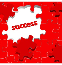 Success in puzzle vector