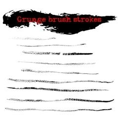 Black ink dry brush strokes vector