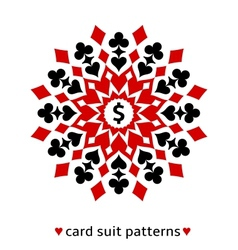 Card suit snowflake ornament vector image vector image