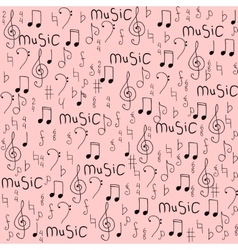 Cartoon hand drawn seamless pattern on the vector image vector image