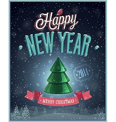 Christmas tree poster vector