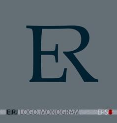 E-r monogram logo vector