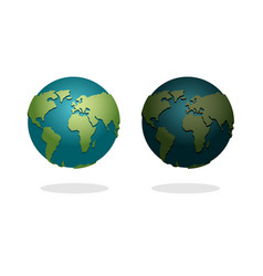 Earth night and day set nighttime planet in space vector