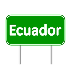 Ecuador road sign vector