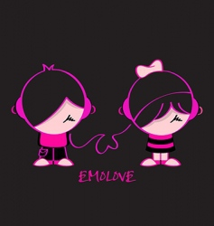 Emo love vector image