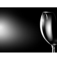 Glass of wine on dark vector