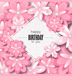 happy birthday greeting card and party invitation vector image vector image