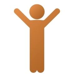 Happy child gradient icon vector