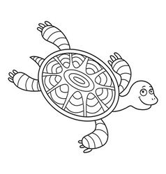 Happy sea turtle cartoon vector image vector image