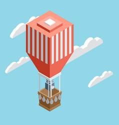 isometric air balloon vector image