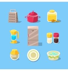 Kitchen Equipment Set vector image vector image