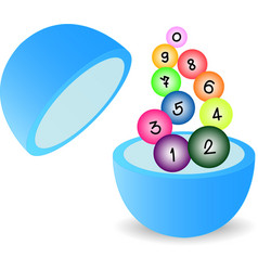 lottery vector image