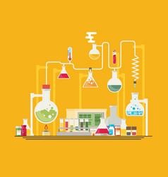 medical laboratory infographics vector image