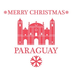 Merry christmas paraguay vector