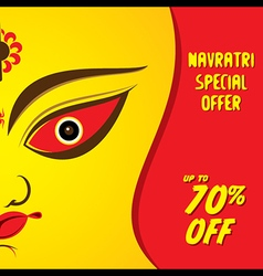 navratri special offer banner design vector image vector image