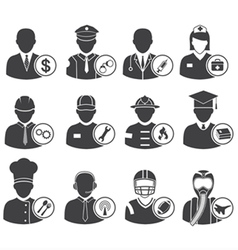 Occupation icons eps10 vector image