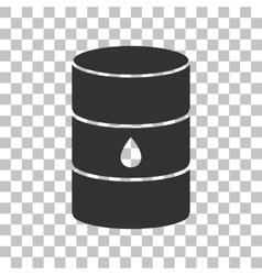 Oil barrel sign dark gray icon on transparent vector