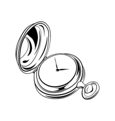 Old vintage pocket watch antique isolated on white vector