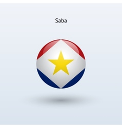 Saba round flag vector image vector image