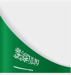 Saudi arabian flag background vector