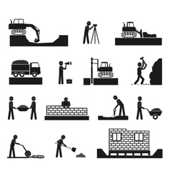 Set of builder construction industry icons vector