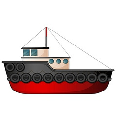 Tugboat vector image vector image