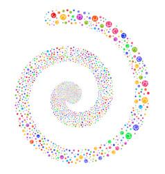 Web browser fireworks spiral vector