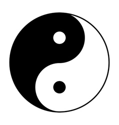 Yin Yang symbol in black and white vector image