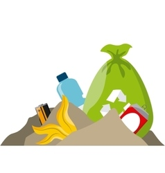 Trash and recycle design vector
