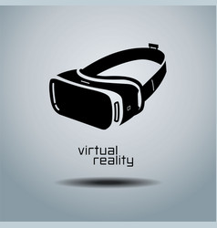 Virtual reality headset icon flat design icon vector