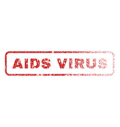 Aids virus rubber stamp vector