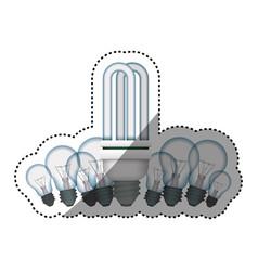 Light bulbs fluorescent incandescent vector