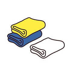 A view of towels vector