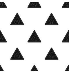 Sign of flammabilityoil single icon in black vector