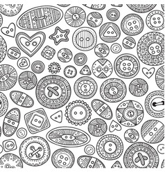Seamless pattern with cloth buttons in boho style vector