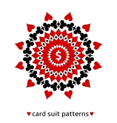 Card suit ornament with a dollar sign vector image