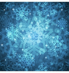 Shiny blue snowflakes seamless pattern for vector