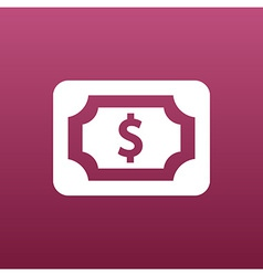Flat icon of money market business sign symbol vector