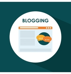 Blog blogging and blogglers theme vector