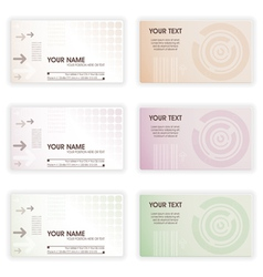 Collect business cards in different colors element vector