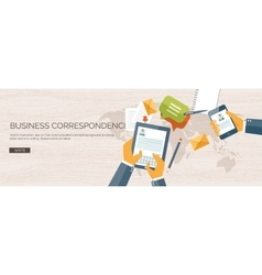 Flat header business vector