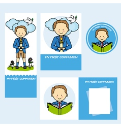 set first communion boy vector image