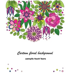Decorative colorful cartoon flower vector image