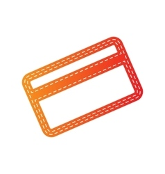Credit card symbol for download orange applique vector