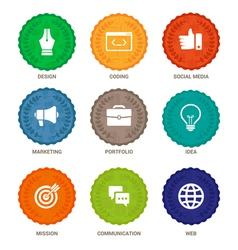 badges design services vector image vector image