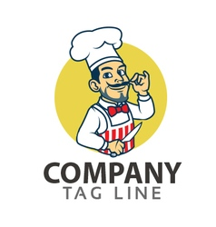 Chef cartoon logo vector