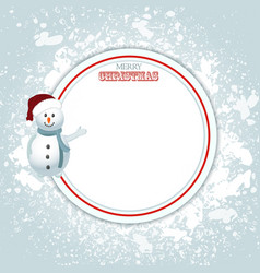 Christmas border copy space and snowman vector