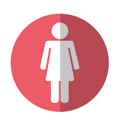Female figure isolated icon vector