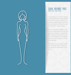 flat yoga booklet design vector image