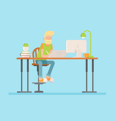 freelance designer cg artist character vector image vector image